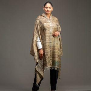 organic silk cape beige