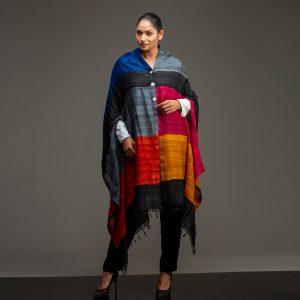 Organic Silk Cape Multicoloured