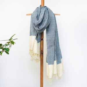 black organic cotton scarf