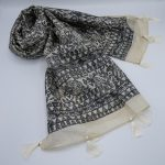 tussar silk scarf